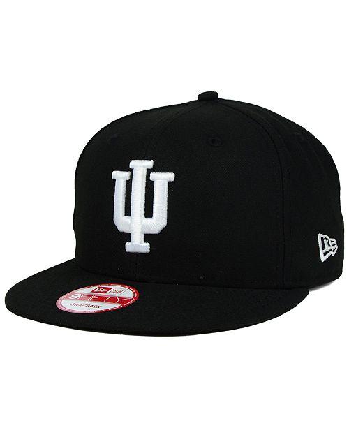 New Era Indiana Hoosiers Black White 9FIFTY Snapback Cap