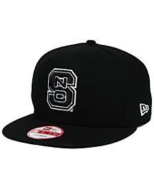 North Carolina State Wolfpack Black White 9FIFTY Snapback Cap