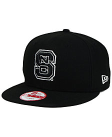 New Era North Carolina State Wolfpack Black White 9FIFTY Snapback Cap