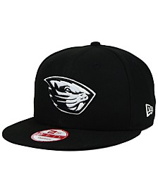 New Era Oregon State Beavers Black White 9FIFTY Snapback Cap