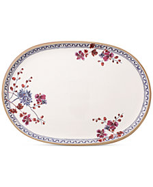Villeroy & Boch Artesano Provencal Lavender Collection Porcelain Oval Fish Plate