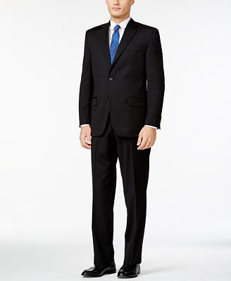 MICHAEL Michael Kors Classic-Fit Black Solid Suit