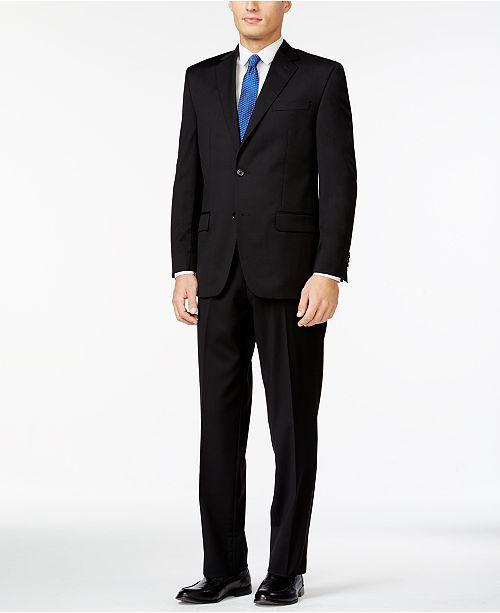 Michael Kors Classic-Fit Black Solid Suit