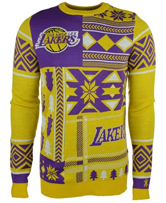 Forever Collectibles Mens Los Angeles Lakers Patches Christmas