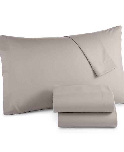 Sanders Microfiber Twin 3-Pc Sheet Set, Created for Macy's