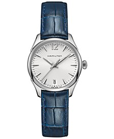 Women's Jazzmaster Blue Leather Strap Watch 30mm H42211655
