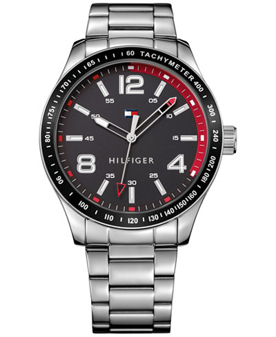 tommy hilfiger men 39 s stainless steel bracelet watch 44mm 1791176 watches jewelry watches. Black Bedroom Furniture Sets. Home Design Ideas