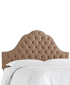 Jacqueline Queen Nail Button Tufted Arch Headboard, Quick Ship