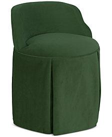 Jasmine Skirted Vanity Chair, Quick Ship