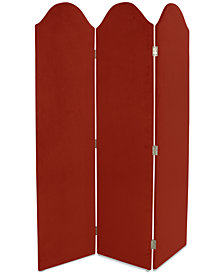 Jocelyn Curved Velvet Sceen Room Divider, Quick Ship