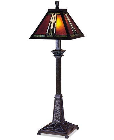 Dale Tiffany Amber Monarch Buffet Table Lamp