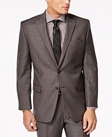 Charcoal Pindot 100% Wool Big and Tall Modern Fit Jacket