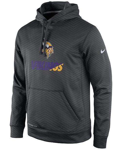 Nike Men s Minnesota Vikings Sideline KO Fleece Hoodie - Sports Fan ... c3b3e6ab2