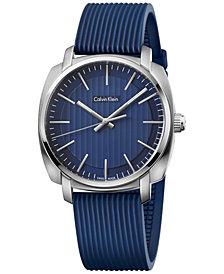 Calvin Klein Men's Swiss Highline Blue Rubber Strap Watch 40mm K5M311ZN
