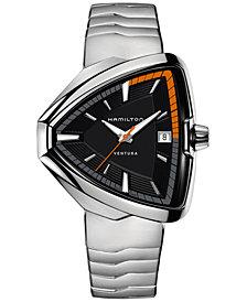 Hamilton Unisex Swiss Ventura Elvis80 Stainless Steel Bracelet Watch 43x45mm H24551131
