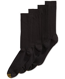 Gold Toe Men's Socks,  ADC Metropolitan 3 Pairs Crew Dress Socks + 1  Pair