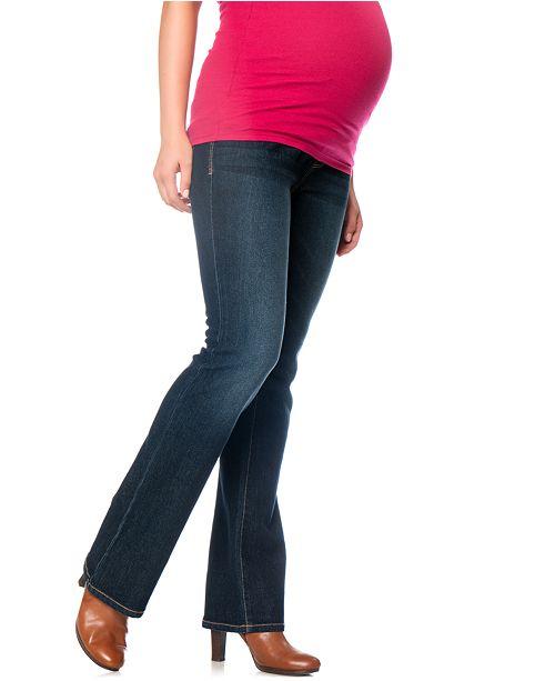 d331b18d0a4ea ... Motherhood Maternity Indigo Blue Maternity Boot-Cut Jeans, Midnight  Dark Wash ...