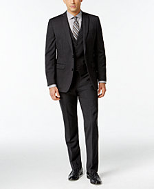 Bar III Dark Charcoal Slim-Fit Suit Separates