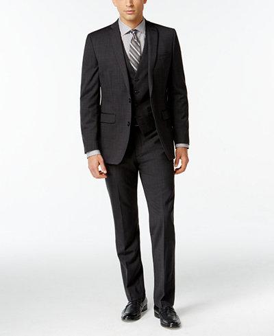 Bar III Dark Charcoal Slim-Fit Suit Separates - Suits & Suit ...