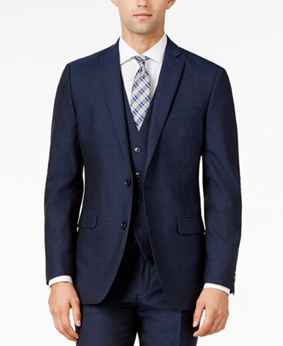 Bar III Midnight Blue Slim-Fit Jacket - Suits & Suit Separates ...