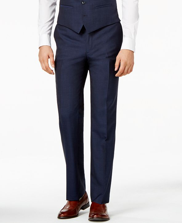 Bar III Midnight Blue Slim-Fit Pants, Created for Macy's