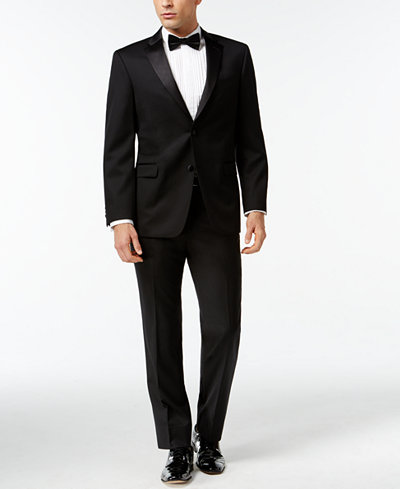 Mens tuxedos formalwear for weddings special occasions macys tommy hilfiger black classic fit tuxedo suit separates junglespirit Images