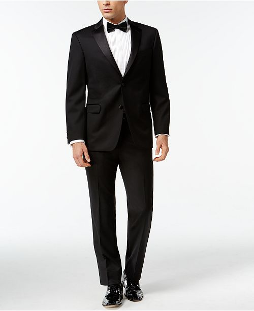 Black Classic-Fit Tuxedo Suit Separates
