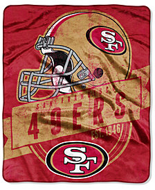 Northwest Company San Francisco 49ers Micro Raschel 12th Man Throw Blanket