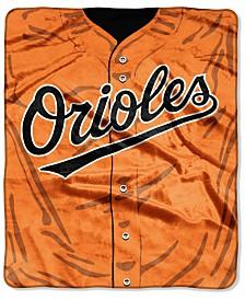 Northwest Company Baltimore Orioles Raschel Strike Blanket