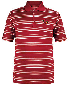 adidas Men's Louisville Cardinals Puremotion Stripe Polo