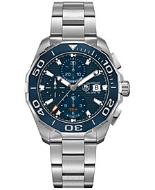 Men's Swiss Automatic Chronograph Aquaracer Calibre 16 Stainless Steel Bracelet Watch 43mm