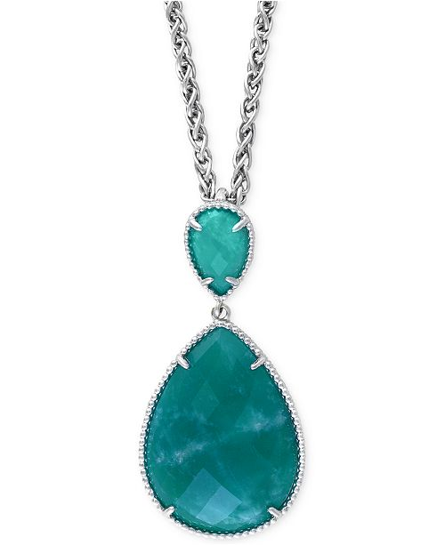 EFFY Collection EFFY Amazonite Pendant Necklace (15-3/4 ct. t.w.) in Sterling Silver