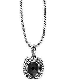 EFFY Onyx Pendant Necklace (4 ct. t.w.) in Sterling Silver