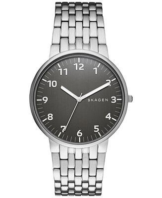 Skagen Men's Ancher Stainless Steel Bracelet Watch