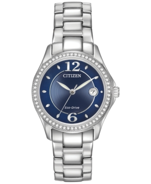 Citizen Women's Eco-Drive Swarovski Crystal-Accented Stainle