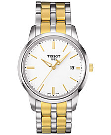 Tissot Men's Swiss Classic Dreams Two-Tone PVD Stainless Steel Bracelet Watch 38mm T0334102201101