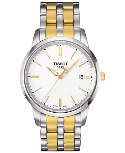 Tissot Men's Swiss Classic Dreams Two-Tone PVD Stainless Steel Bracelet Watch 38mm T0334102201101