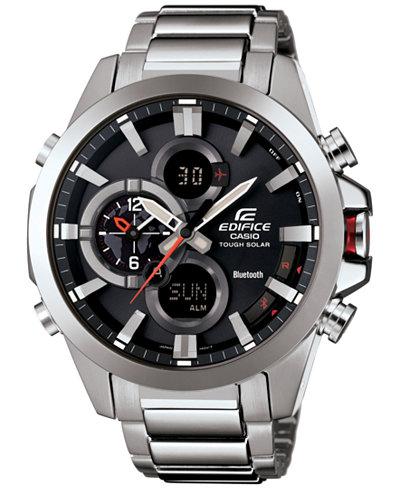G-Shock Men's Analog-Digital Stainless Steel Bracelet Watch 51x55mm ECB500D-1A
