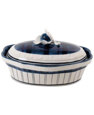 Earthenware Bristol Covered Serving Dish