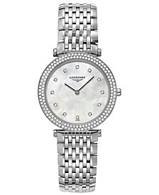 Longines Women's Swiss La Grande Classique de Longines Diamond Accents Stainless Steel Bracelet Watch 31mm L45150876