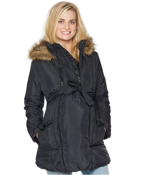 Modern Eternity Hooded Belted Puffer Coat