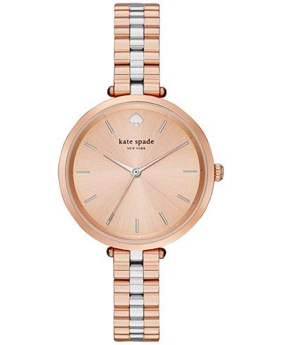 kate spade new york Women's Holland Two-Tone Stainless Steel Bracelet Watch 34mm 1YRU0860