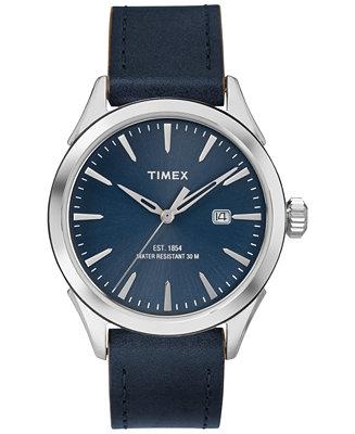 Timex Men's Chesapeake Blue Leather Strap Watch