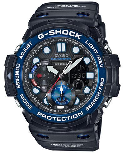 G Shock Men S Analog Digital Gulfmaster Black Bracelet