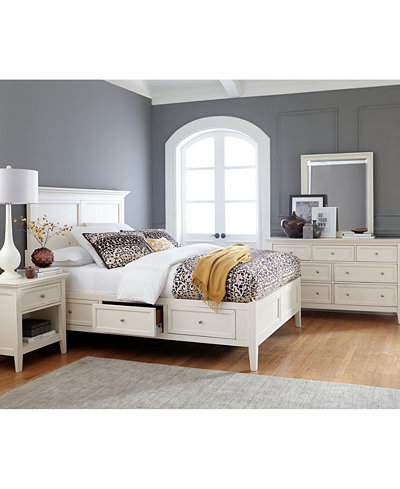 Sanibel Storage Platform Bedroom Furniture Collection, Created for ...