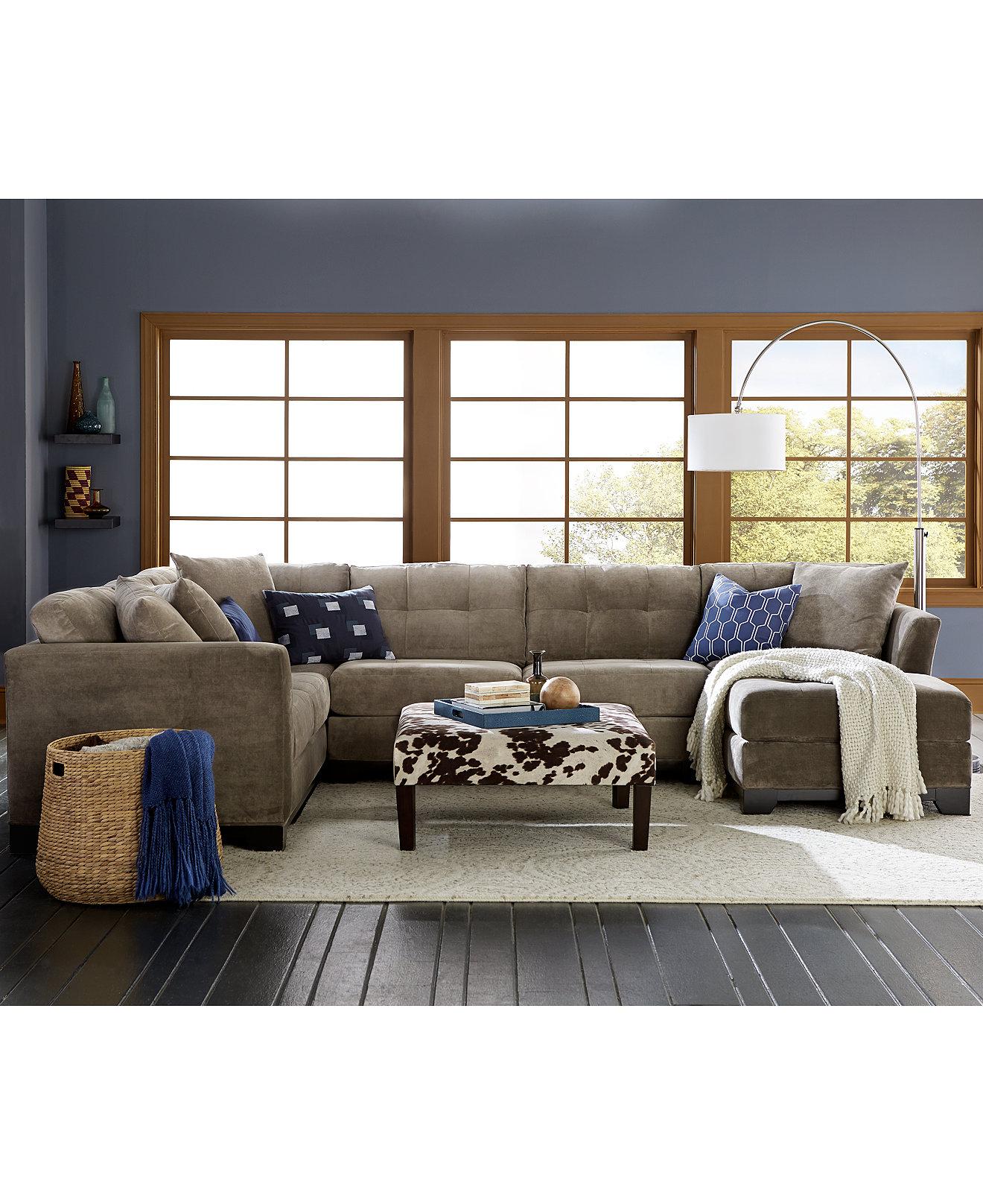 Macys Living Room Furniture Elliot Fabric Sectional Living Room Furniture Collection