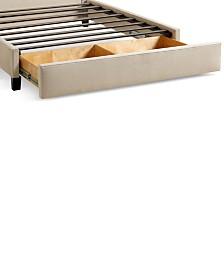 Upholstered Caprice Hemp Twin Storage Base