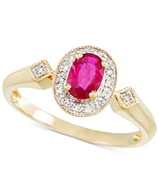 Certified Ruby (1/2 ct. t.w.) and Diamond Accent Ring in 14k Gold
