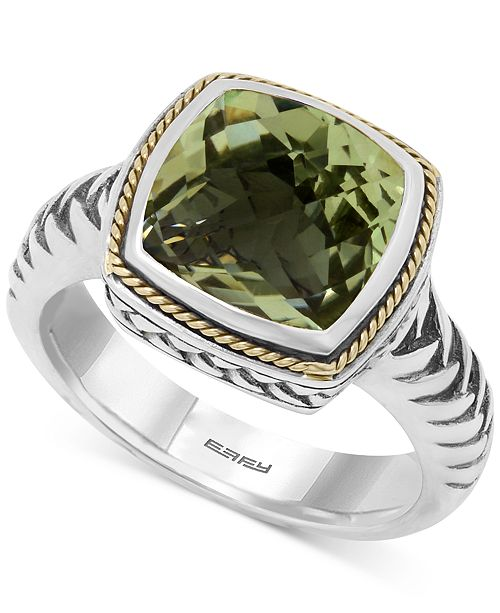 EFFY Collection BALISSIMA by EFFY Prasiolite (4 ct. t.w.) Ring in 18k Gold and Sterling Silver