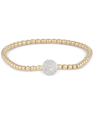 Diamond Dot Stretch Bracelet (1/6 ct. t.w.) in 14k Gold over Sterling Silver, Created for Macy's